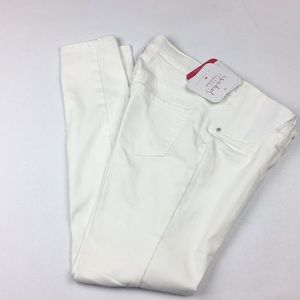 NWT ISABEL MATERNITY skinny white side panel jeans